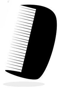 Wide ttoth comb